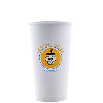 20 oz Custom Printed White Paper Hot Cups