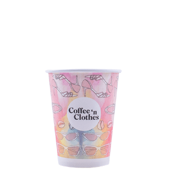 12 oz Custom Printed White Paper Hot Cups