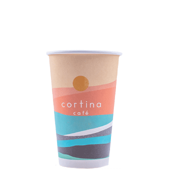 16 oz Custom Printed White Paper Hot Cups