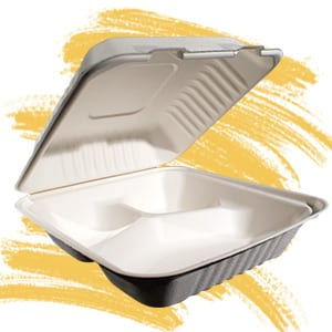 Bagasse takeout containers
